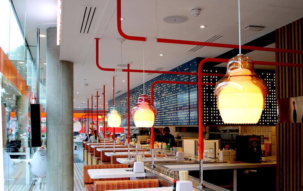 Matrioskha Pendants at YO! Sushi London